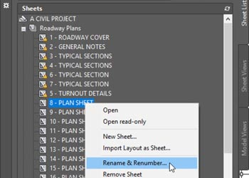 sheet set manager in civil 3D